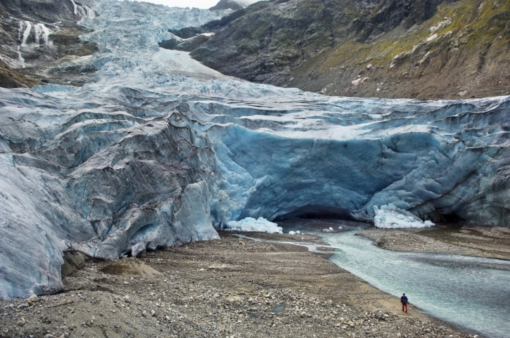 Trift Glacier in the Swiss Alps