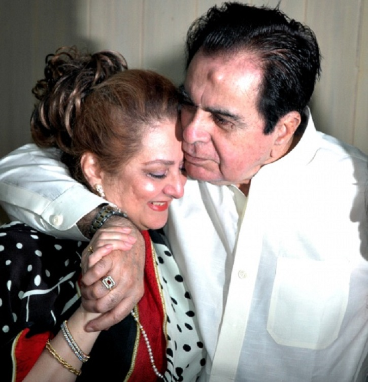 Dilip kumar makes a debut on fb posts a video of him for Saira banu granddaughter