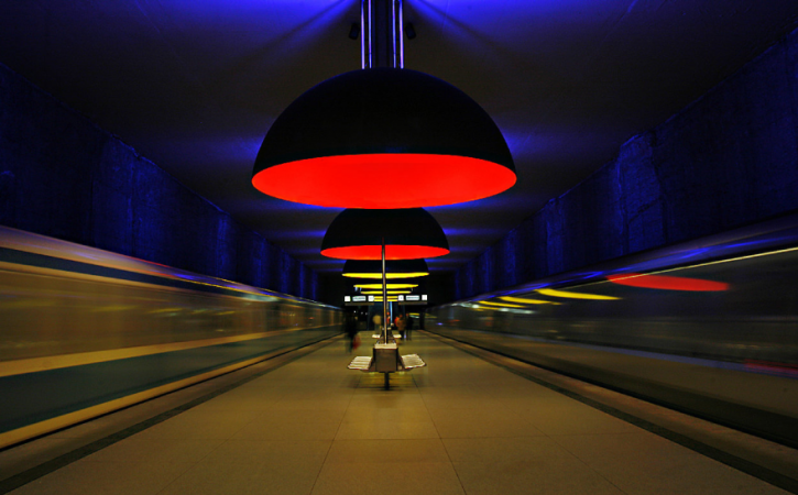 U-bahn Station Westfriedhof, Munich, Germany