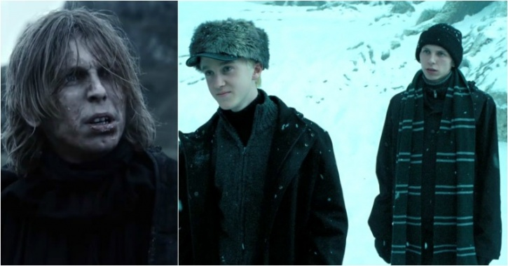 Bronson Webb as Will from the Night's Watch and Draco Malfoy