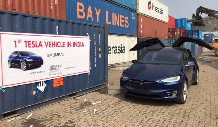 Tesla Model X in Mumbai