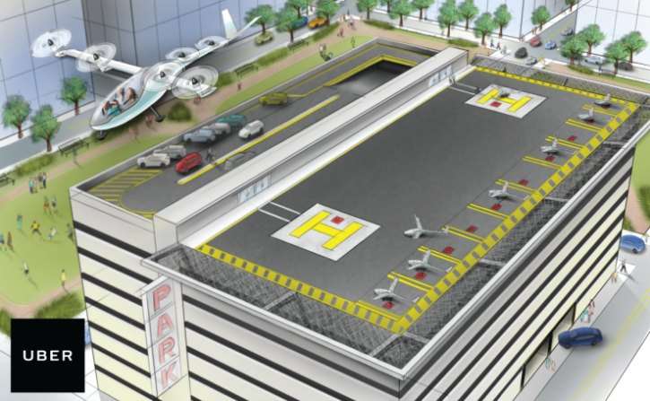 Uber flying car concept nasa engineer mark moore
