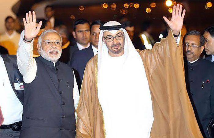 Narendra Modi and Sheikh Mohammed