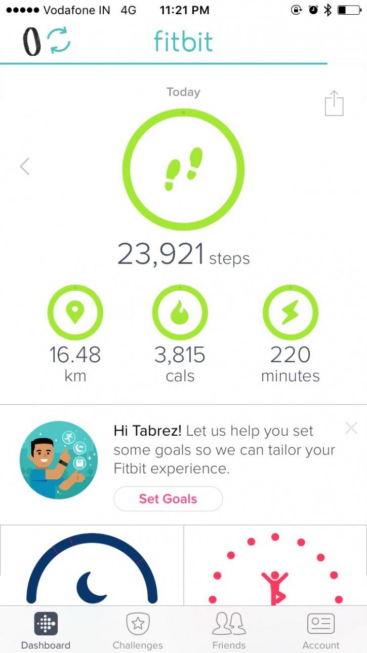 Fitbit Flex 2 stats