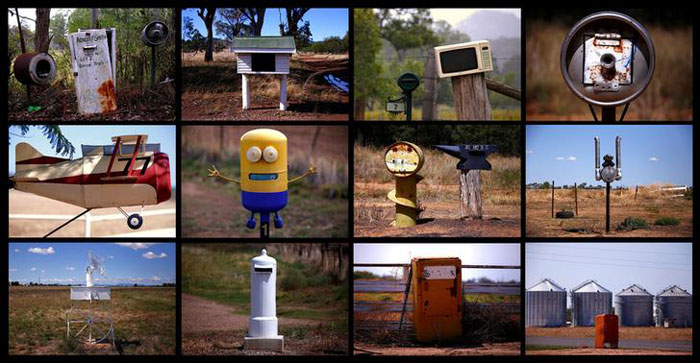 Odd Shaped Rural Mailboxes