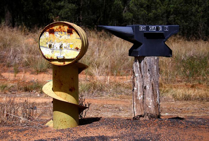 Odd-Shaped Rural Mailboxes