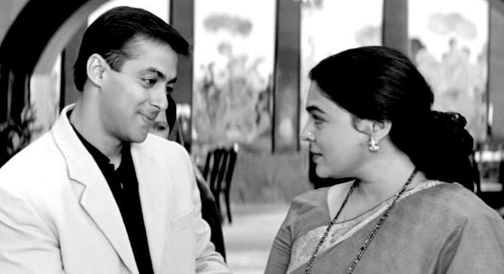 Salman Khan and Reema Lagoo