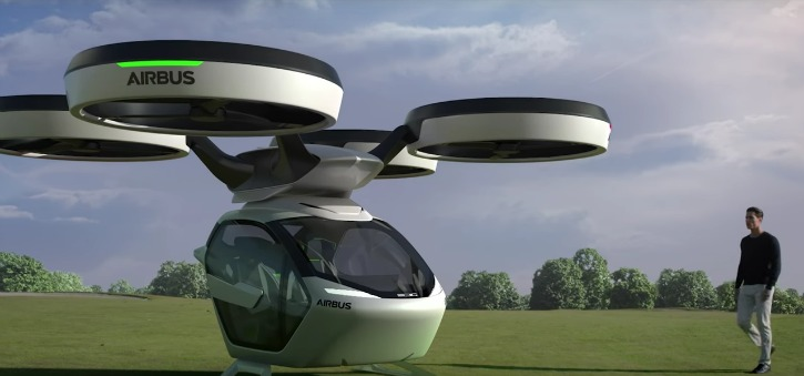 Airbus Reveals Its Fly... Futuristic Bus