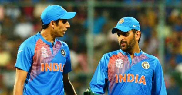 Image result for ashish nehra with ms dhoni