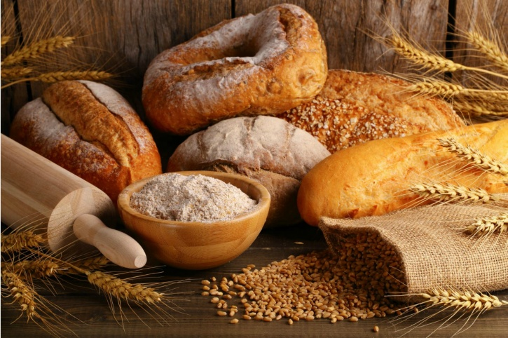 Foods with the presence of gluten