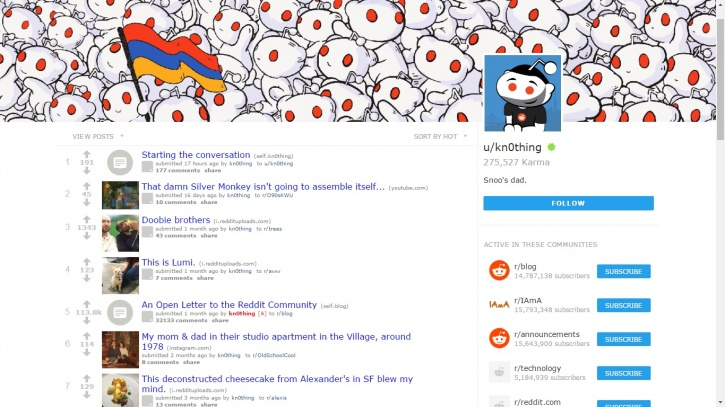 Reddit Tweaking Its User Profiles To Resemble Stupid Facebook Is