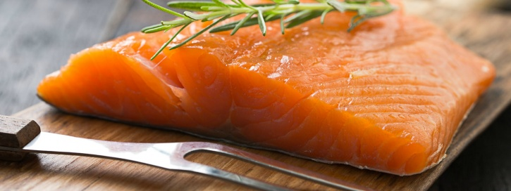 Naturally occurring saturated fats in salmon