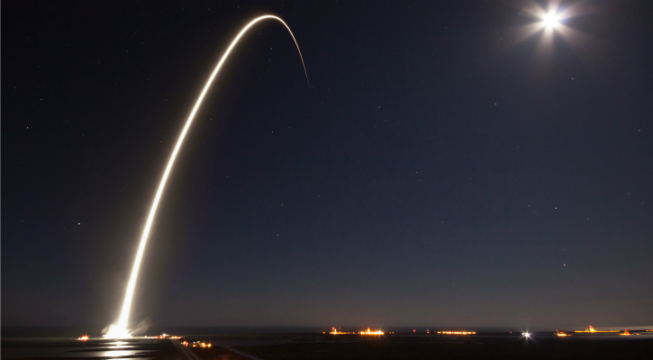 The EchoStar XXIII launch from the Kennedy Space Center - SpaceX