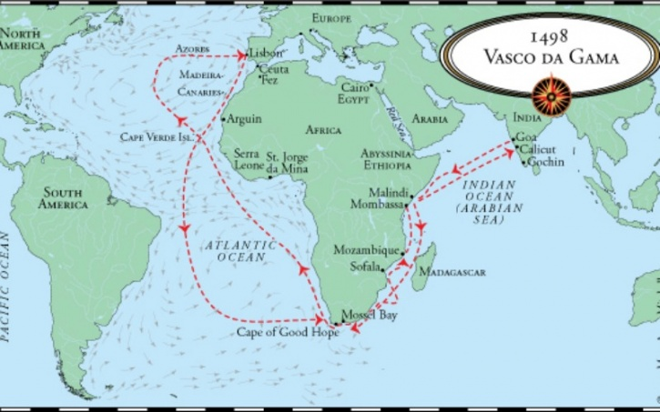 519 years ago today vasco da gama set foot in india here is how da gama gumiabroncs Choice Image