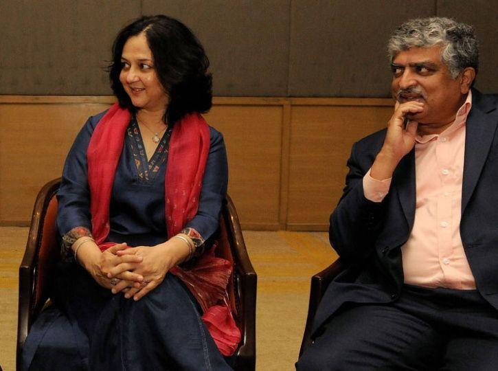 Nandan Nilekani and Rohini Nilekani