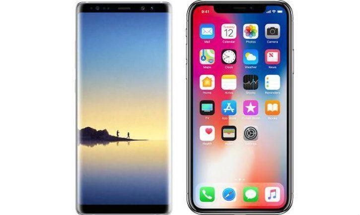 Samsung Galaxy Note 8 vs Apple iPhone X