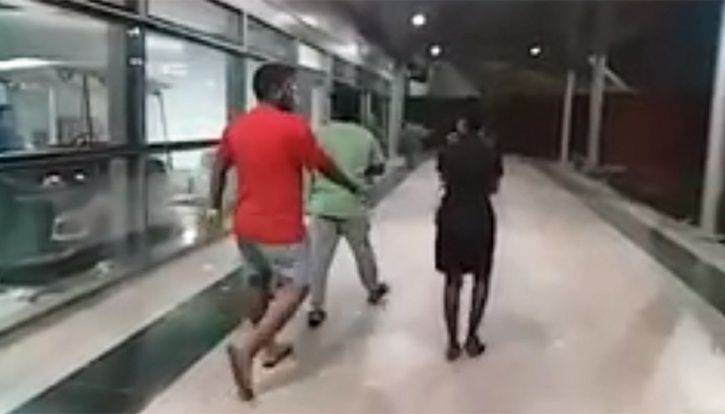 two drunk guys misbehave with indigo air hostess  she