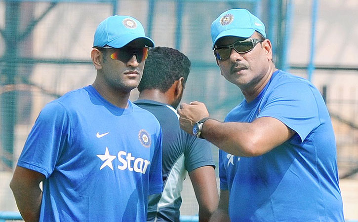 Shastri and Dhoni