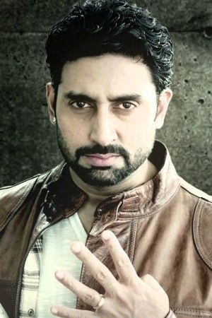A picture pf Bollywood actor Abhishek Bachchan holding a football