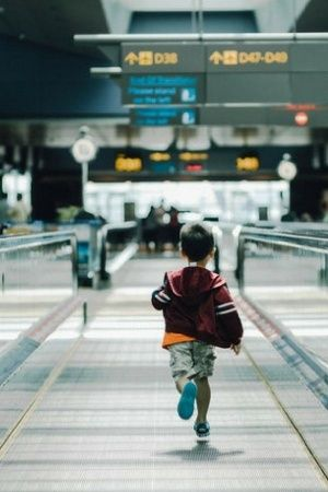 Boy flies to Indonesia