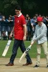 Justin Trudeau plays cricket with Kapil Dev Mohammad Azharuddin