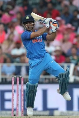 MS Dhoni made 52 not out