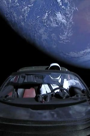 starman going to asteroid belt