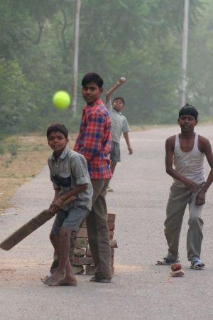 Street cricket was fun