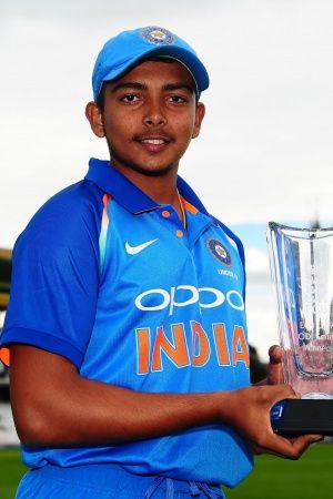 Prithvi Shaw is the captain of the Under19 side