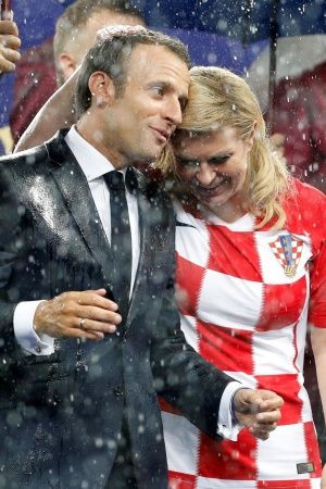 Croatian President Reaction After The FIFA World Cup Final