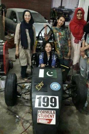 f1 Pak girls shine as they make a formula racing car