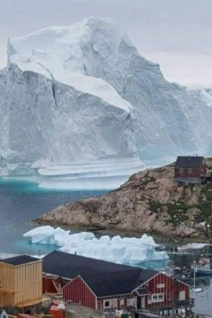 Global Warming Climate Change Iceberg People Village Climate Weather People Greenland