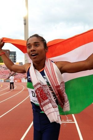 Hima Das won gold in 400m