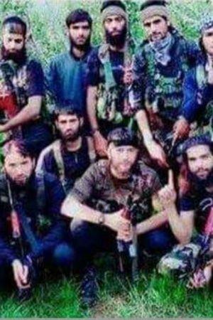 Hizbul Mujahideen Releases Burhan Squadlike Group Photo