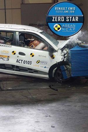 Renault Kwid zero crash test NCAP