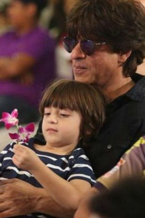 A picture of Abram and Shah Rukh Khan on Fathers Day