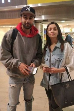 A picture of Ranbir Kapoor and Alia Bhatt