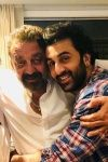 A picture of Ranbir Kapoor and Sanjay Dutt