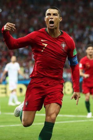 Cristiano Ronaldo scored a hattrick vs Spain