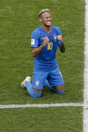 Neymar scored his first goal in FIFA World Cup 2018
