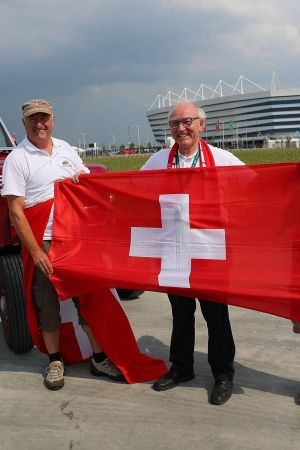 These fans are diehard supporters of Switzerland