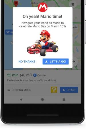 mario day on google maps