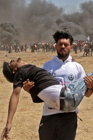 52 killed and 2400 injured in a single day in Gaza