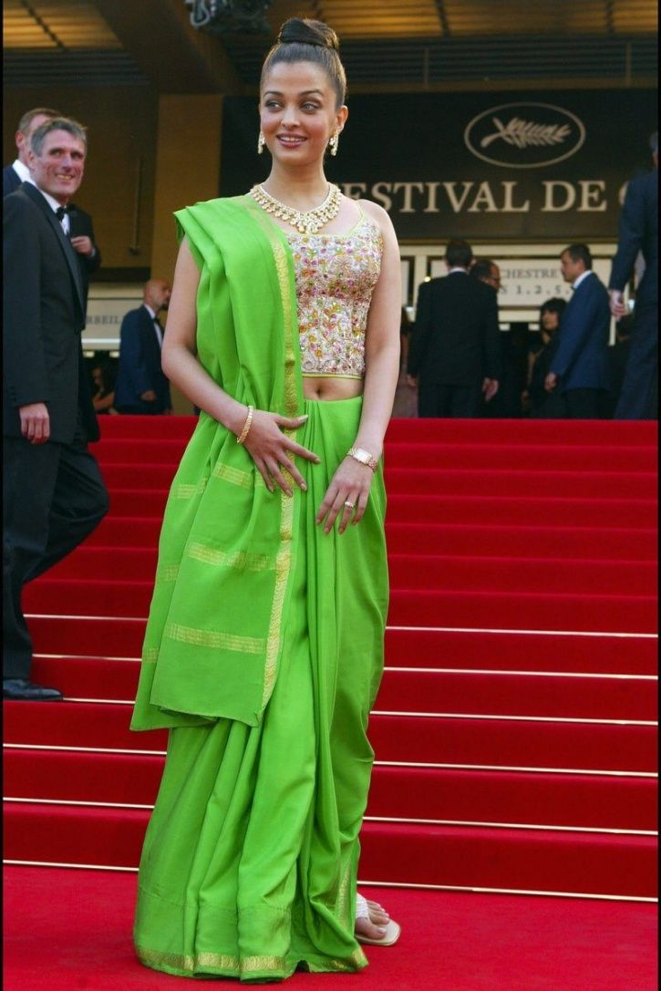 A picture of Aishwarya Rai Bachchan at Cannes Film Festival in 2003.