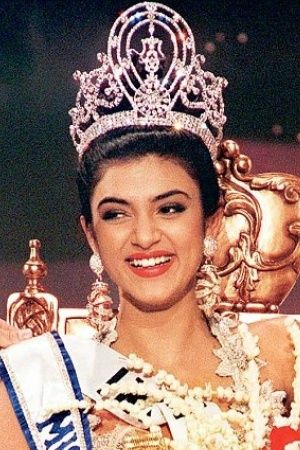 A picture of Sushmita Sen from when she won the miss universe title in 1994