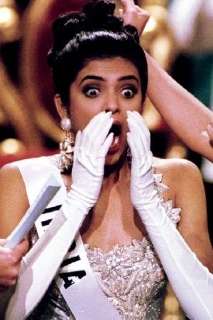 A picture of Sushmita Sen when she won Miss Universe title in 1994