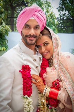 Neha Dhupia and Angad Bedi