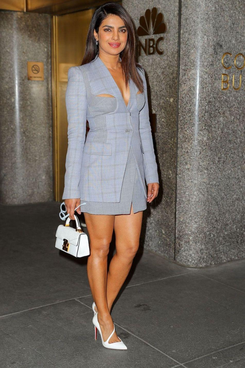 priyanka chopra wears a stylish blazer dress & in no time, the