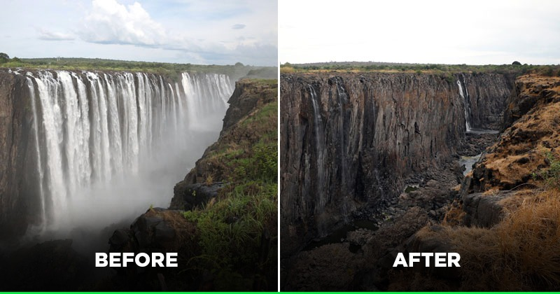 World S Largest Victoria Falls Is Running Out Of Water In