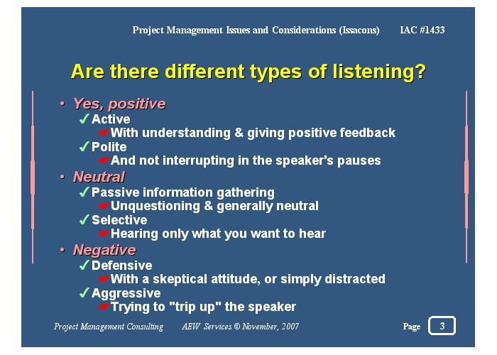 what is listening and types of listening